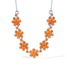 Liquidation Channel | Jalisco Fire Opal Necklace with Chain in Platinum Overlay Sterling Silver (Nickel Free)
