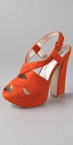 orange shoes!
