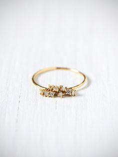 e.m. noir Diamond Cluster Ring