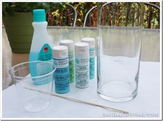 how to paint glass vases