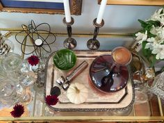 Home With Keki used some of our bar goods to style a beautiful bar cart.