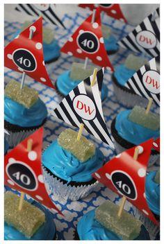 Nautical Theme - sailboat cupcakes