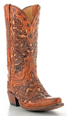 Womens Lucchese Classics Goat Boots Tan