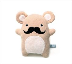 Moustache cuddly toy for Movember
