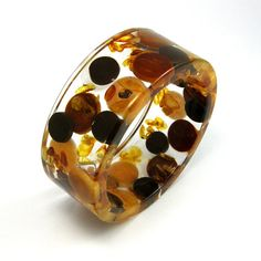 Resin bangle resin bangl, craft, chocolates, coolest thing, resin jewelleri, bangles, dots, chocol bracelet, leather bracelets