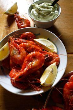Peel-and-Eat Shrimp with Herb Aioli | SAVEUR