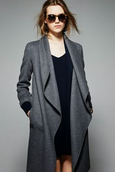 grey wool coat