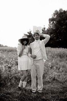 John Lennon + Yoko Ono inspired engagement  session #weddings