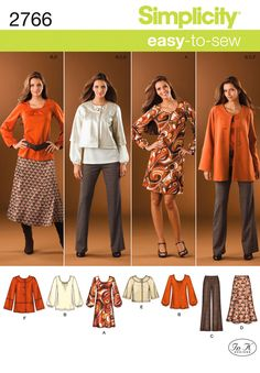 2766 Misses' & Plus Size Sportswear    Misses or Plus Size Pants, Skirt, Jacket & Knit Dress or Tunic