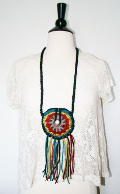 FREE SHIPPING - Festival Pouch with Fringe and Button - Coin Purse, Medicine Bag, Wallet, Necklace - Multi, Gray, Red, Gold, Teal, Black