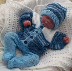 Knitting Pattern Chunky Baby Pram Blanket, Hat & Mittens - Easy Knit