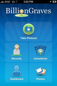 Billion Graves iPad/iPhone App