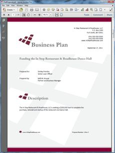 restaurant thesis business plan