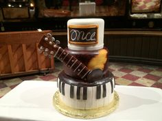 The cast of ONCE celebrates one year on Broadway with this fabulous cake.