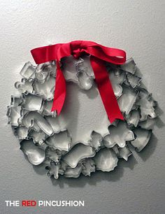 Christmas Cookie Cutter Wreath