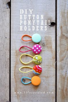 ponytail holder DIY, cute and can be made in minutes