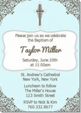 This is a traditional and cute invite for either a boy or a girl christening/baptism