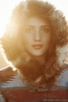 Cozy fur-lined hoodie. #equestrian #ruche #shopruche