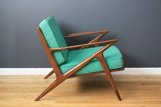 "Vintage Mid-Century ""Z"" Chair by Poul Jensen"
