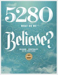 5280 Magazine by Jordan Metcalf, via Behance #typography