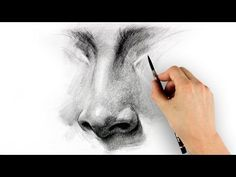 How to Draw a Nose - Step by Step  In this video learn to draw the nose in 5 steps: lay-in, two value, dark accents, halftones / highlights, and details. We visualize the minor and major planes of the nose and render 3-dimensional form using tone.
