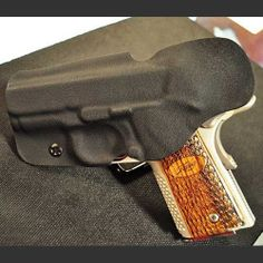 Kydex Inside Waist Band (IWB) Holster.  Kydex holster for the 1911, it allows you to carry chambered and cocked back but held in place. www.carrypros.com