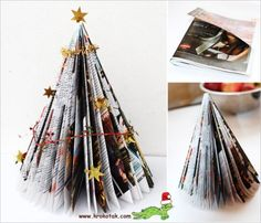 holiday, kids christmas crafts, junk mail, mail christma, christma tree