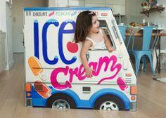 Cardboard Ice Cream Truck!