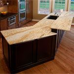 Colonial Gold Granite in Kitchen photo gallery.