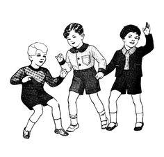 FREE Vintage Digital Stamp: Vintage Children...