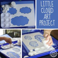 Cloud Art for preschoolers Inspired By Eric Carle
