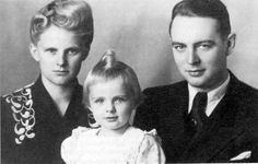 """Berthold and Elise Beitz with their daughter. The Beitz family protected hundreds of Jews while living in Poland during WWII. Mr. Beitz created a list of 250 """"essential employees"""" that he protected from transport to concentration camps. He was later honored with """"Righteous Among the Nations"""" status by Yad Vashem in 1973; and Mrs. Beitz in 2006. Berthold Beitz died on July 30, 2013 at the age of 99."""