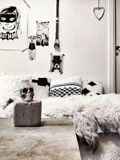 Méchant Design: on my sofa today interior, sweet, studios, sofa today, méchant design, black white, inspir, blog