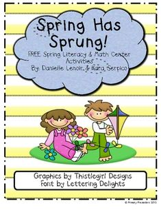 Spring Literacy and Math unit FREE i