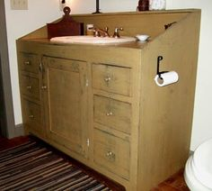 primitive bathroom vanity