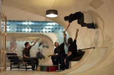 Skateboard Room house design, living rooms, park, unusual homes, interiors, architecture, unusual houses, dream houses, skateboard