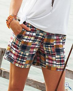 Madras shorts. $68
