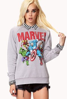 Marvel© Characters Sweatshirt | FOREVER21 - 2075562114