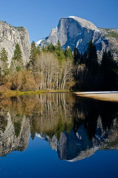 Half-Dome and the reflection