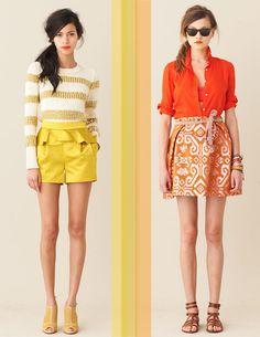 j crew love the yellow shorts :)