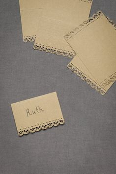 love! these place cards