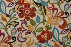 Richloom Wildwood Printed Polyester Outdoor Fabric in Jubilee $8.95 per yard