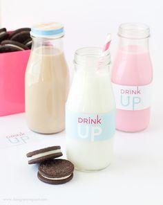 Free Printable Milk Bottle Labels