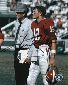 Coach Bryant in his famous Hounds Tooth Hat with Kenny Stabler