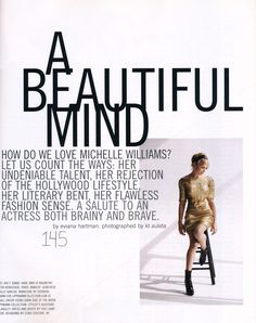 Flashback to January '07 with Michelle Williams