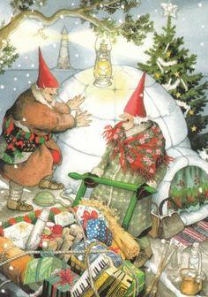 christmas cards, granni, vintage christmas, ing lööks, christmas presents