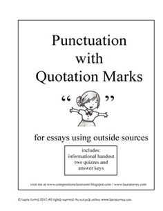 quotation marks in essays uk
