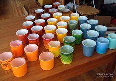 Great Pyrex mug collection