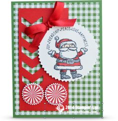 Stampin Up Get Your Santa On Christmas card fun #stampinup #crafts #cardmaking #santa #christmas