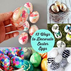 13 Ways to Decorate Easter Eggs